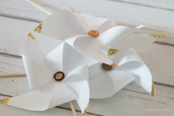 Super easy gold tipped pinwheels!