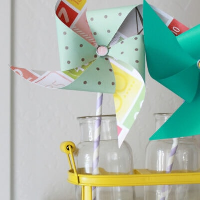 Summer decor paper pinwheel