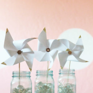 Glitter gold tipped pinwheels tutorial!