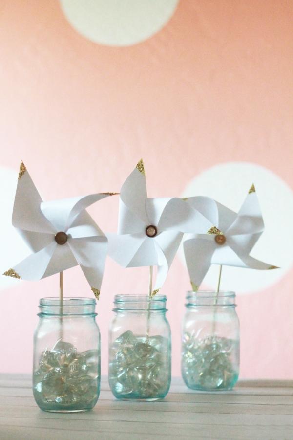Glitter gold tipped pinwheels tutorial!