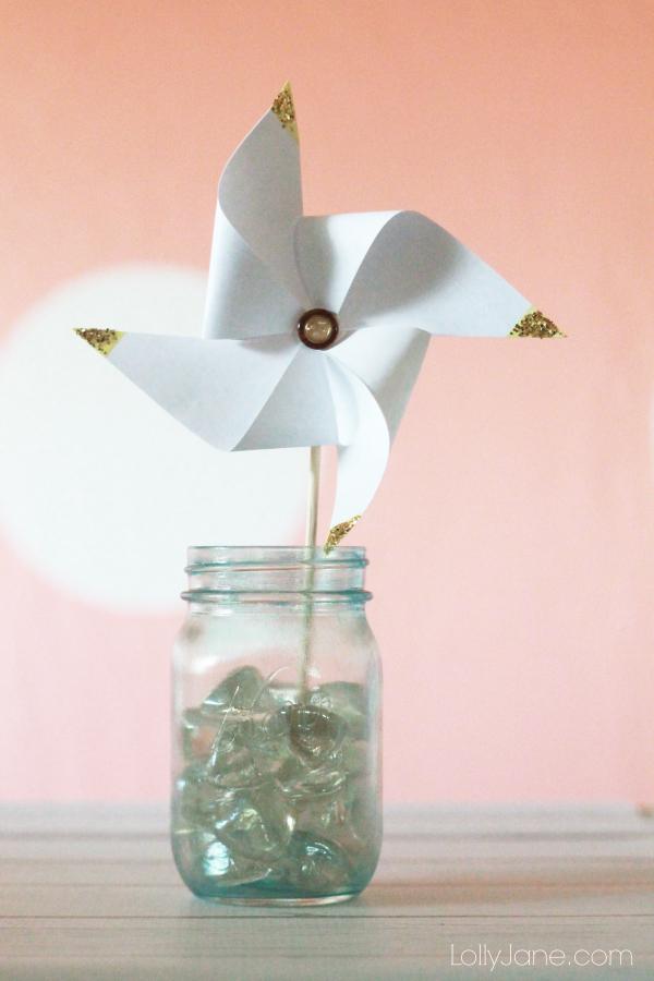 easy gold pinwheel craft