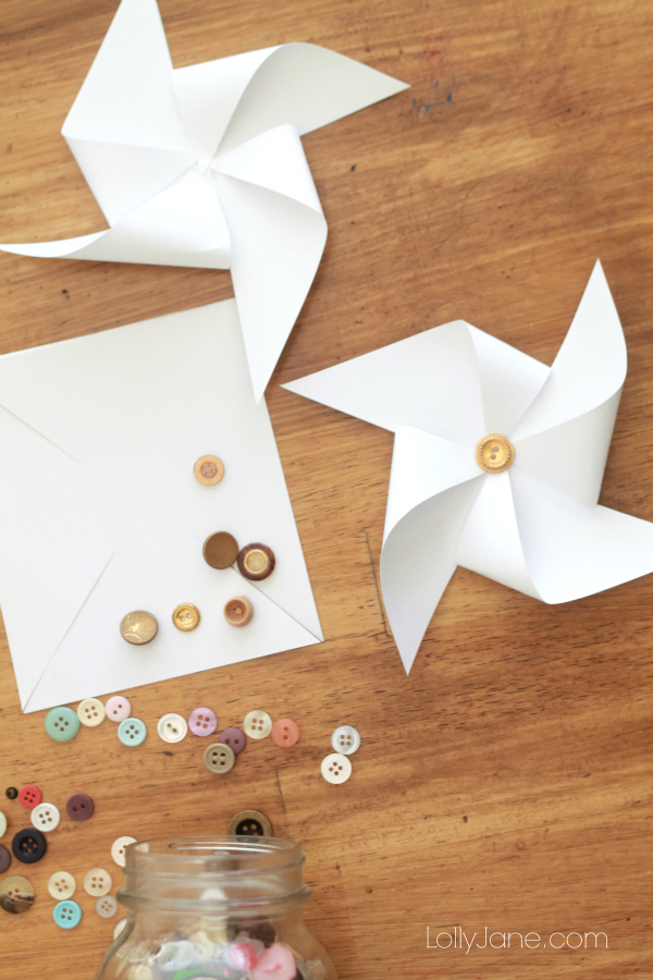 Easy gold tipped pinwheel tutorial!