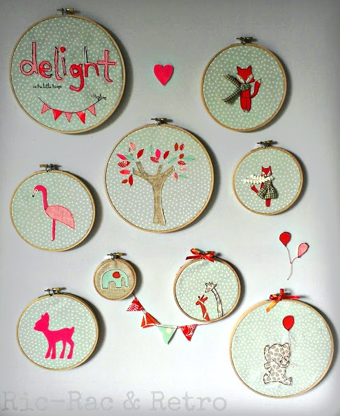 mint embroidery hoops collection