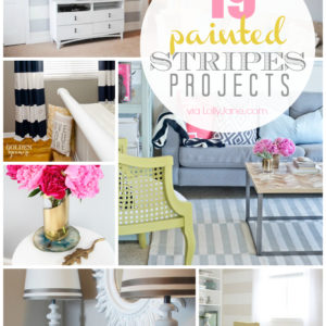 19 of the cutest painted stripes projects out there!