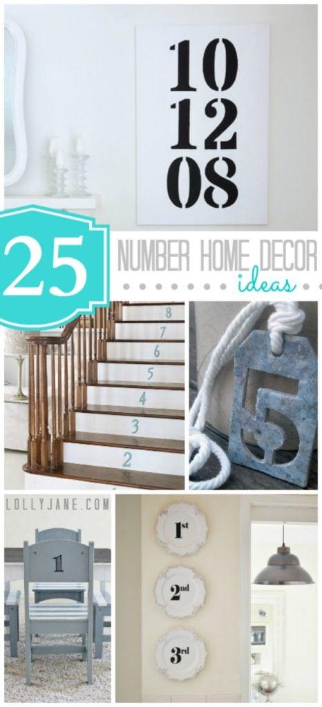 25 Number Home Decor Ideas