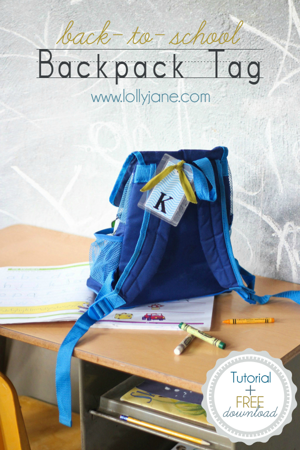 image about Printable Backpack Tags named again-in direction of-college or university Do-it-yourself backpack tag