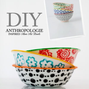 DIY Anthro-inspired atom bowls using DecoArt enamels