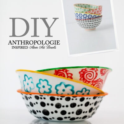 Anthropologie-inspired Atom art bowls