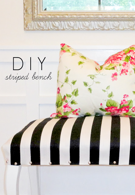 DIY Striped bench