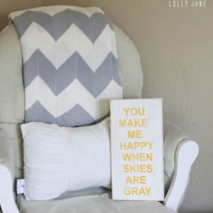 You make me happy when skies are gray FREE printable!!