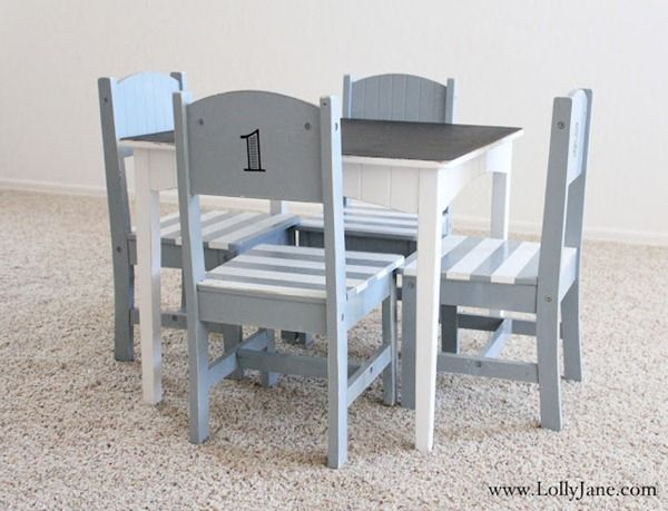 Cute painted kids furniture set