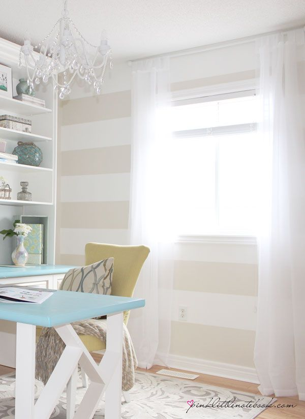 Super cute striped office