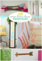Super cute arrow home decor tutorials! #DIY