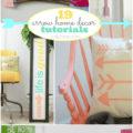 Super cute arrow home decor tutorials! #DIY