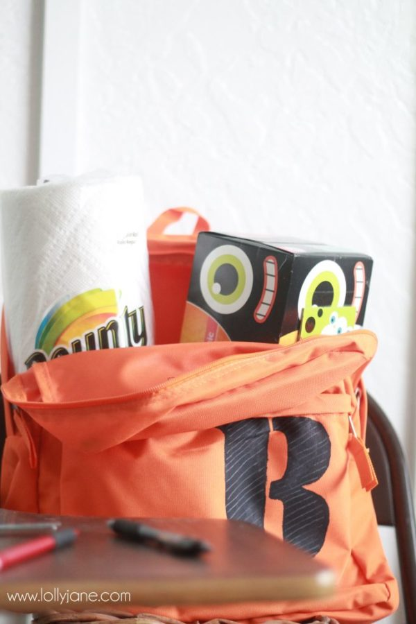 Bounty and Puffs are must needed supplies in keeping kids germ free for back to school!