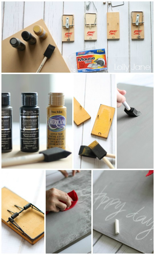 Directions to make cute chalkboard calendar!