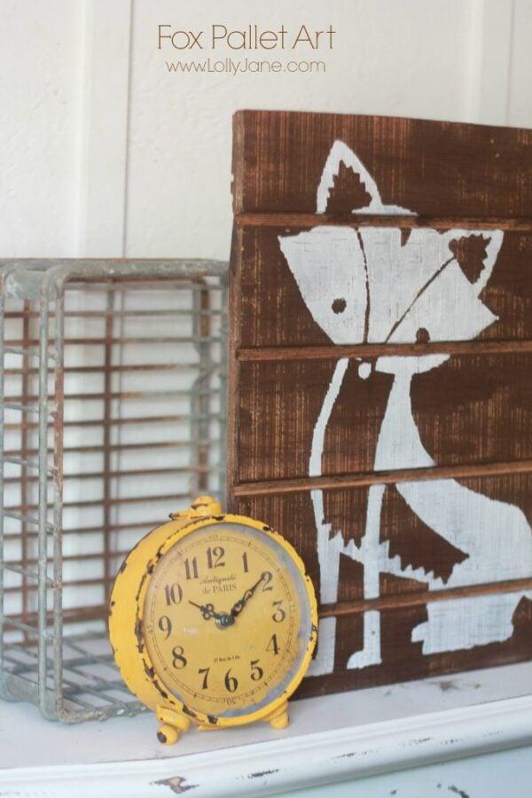 DIY fox pallet art!