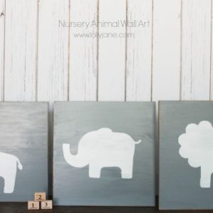 DIY nursery animal wall art