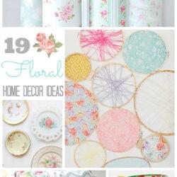 19 floral home decor ideas