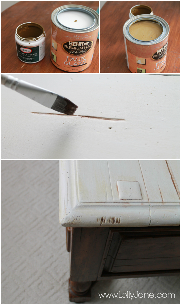 How to mix color + glaze to age furniture!