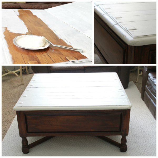DIY two-tone coffee table tutorial, directions.