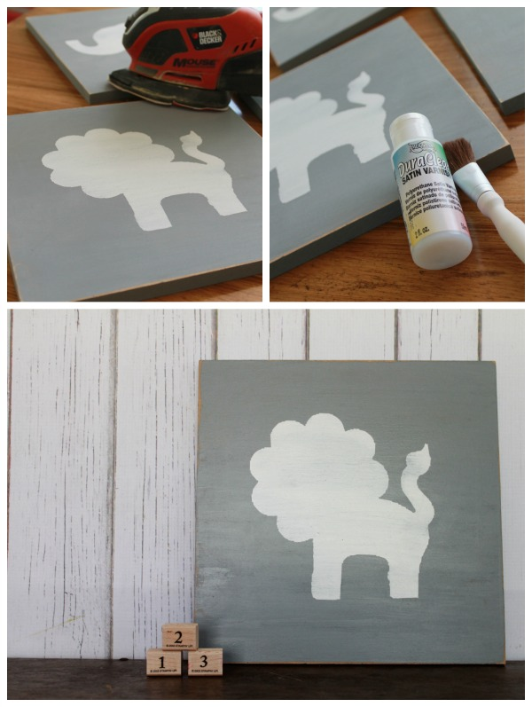 DIY nursery animal wall art instructions!