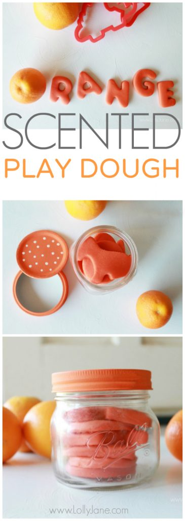 Easy recipe for orange scented play dough via @LollyJaneBlog