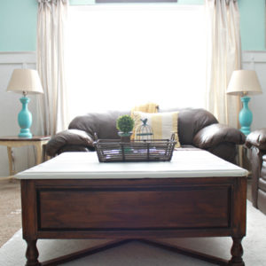 DIY two-tone coffee table tutorial