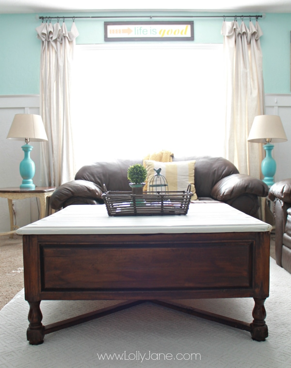 Two Tone Coffee Table Tutorial Furniture Makeover