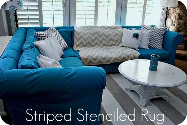 DIY striped nautical rug