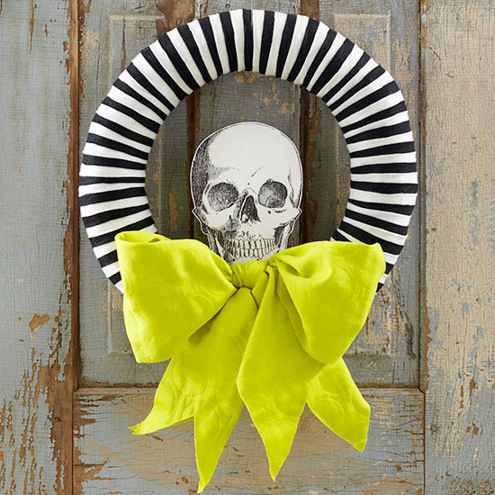 BHG.com skeleton wreath