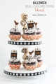 Super cute DIY Halloween skull cupcake stand