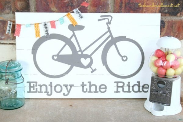 Enjoy the Ride bike sign
