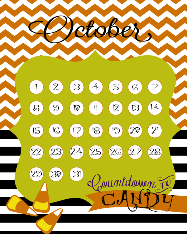 Cute FREE Halloween candy countdown #halloween