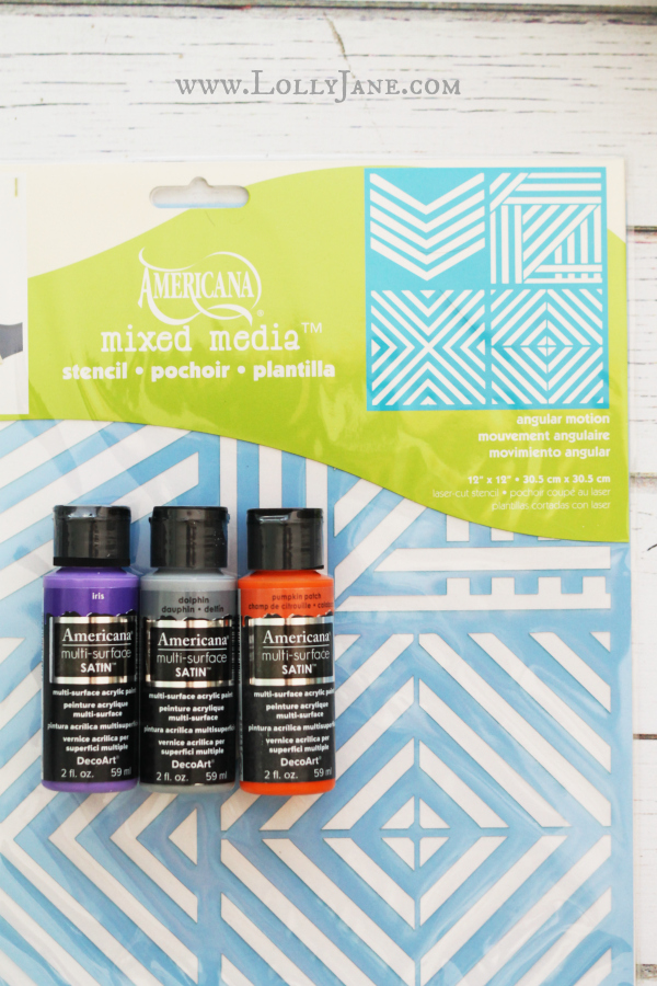 Make a Halloween banner with a stencil + acrylic paint!