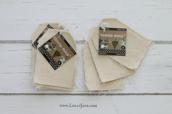 Turn canvas minis into a stenciled Halloween bunting!
