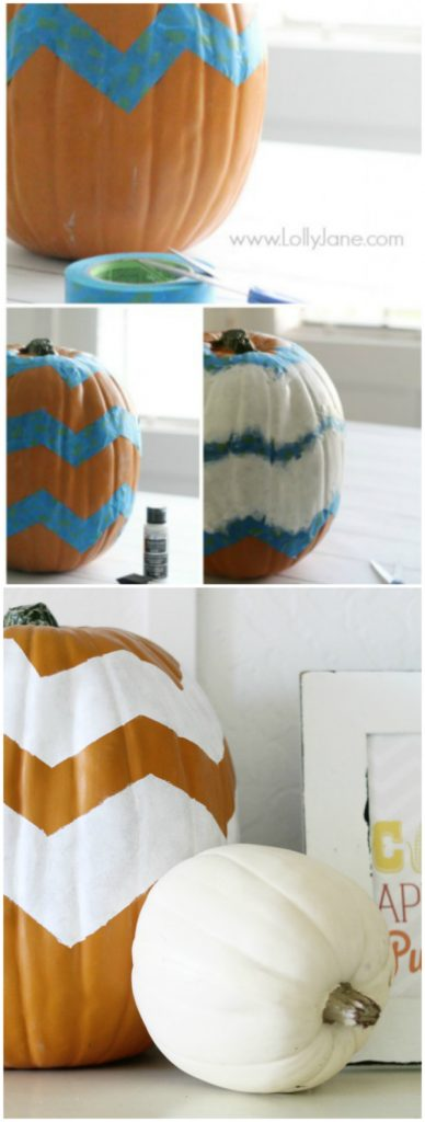 DIY: chevron pumpkin | lollyjane.com