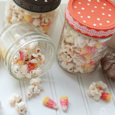 Candy corn popcorn mix
