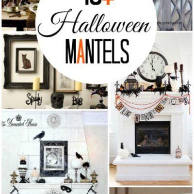 Inspiring Halloween mantels
