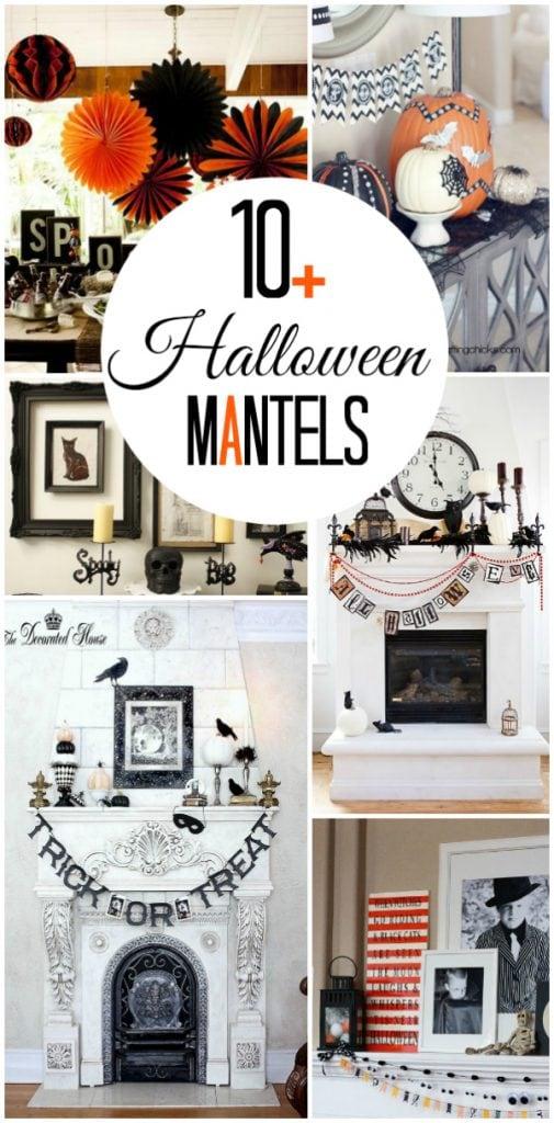 10+ inspiring Halloween mantels | lollyjane.com