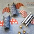 Cute Halloween bat treat holders made from toilet paper rolls   via lollyjane.com