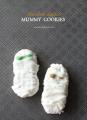 Cute chocolate dipped mummy cookies #halloween #treats