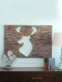 Foam pallet art, looks like wood without the heavy weight!! Full tutorial on www.lollyjane.com! #floracraft #palletart