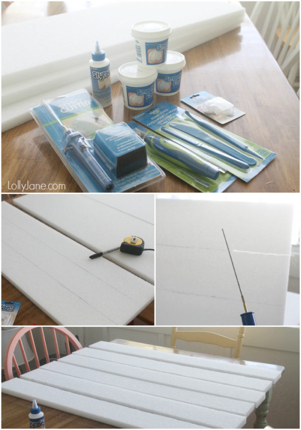 Supplies to create foam pallet art. #FloraCraft #palletart