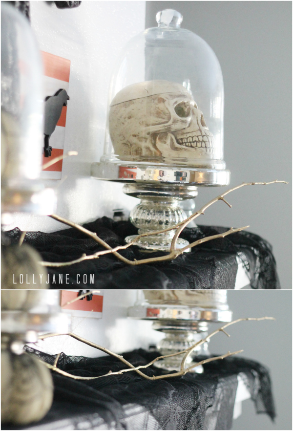 Tips to create a vintage Halloween mantel. So cute! #worldmarket #vintage #Halloween