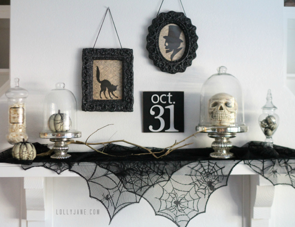 tips to create a vintage halloween mantel so cute worldmarket vintage - Halloween Mantle