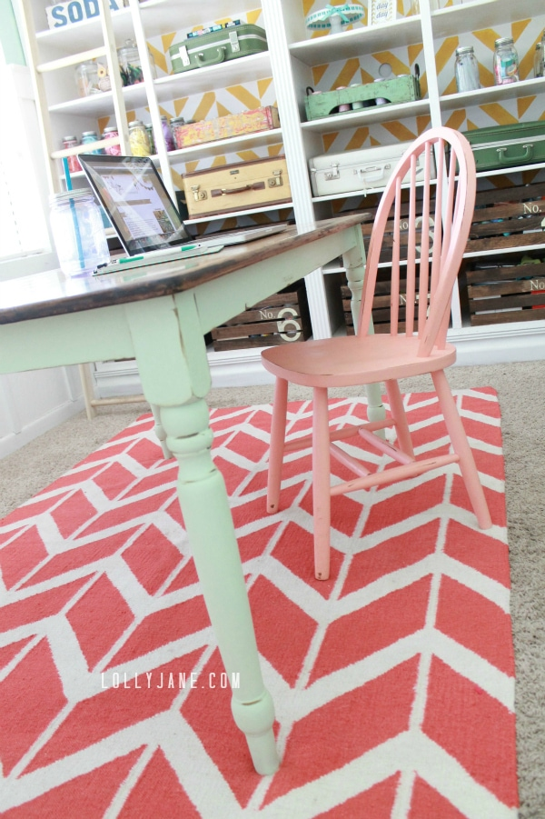 mint farmhouse table