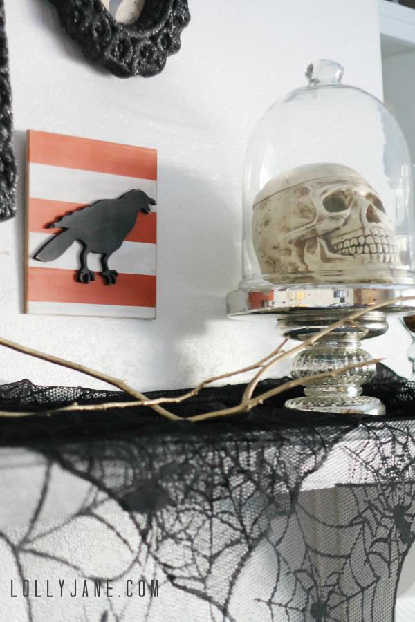 Tips to create a vintage Halloween mantel. So cute! #worldmarket #vintage #Halloween