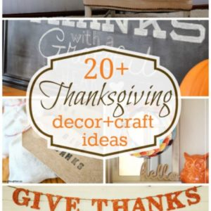 20+ Thanksgiving decor and craft ideas!