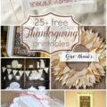 25 FREE Thanksgiving printables!